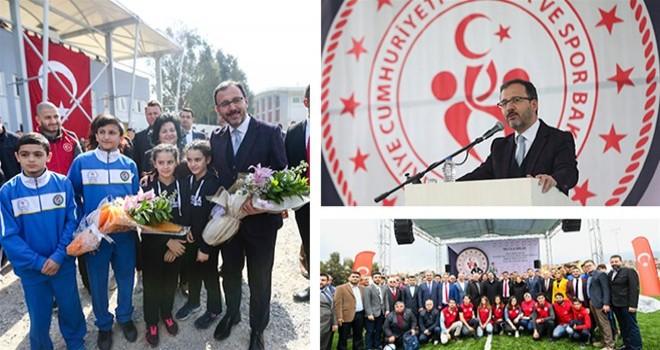 Stad açılışını Bakan Kasapoğlu yaptı