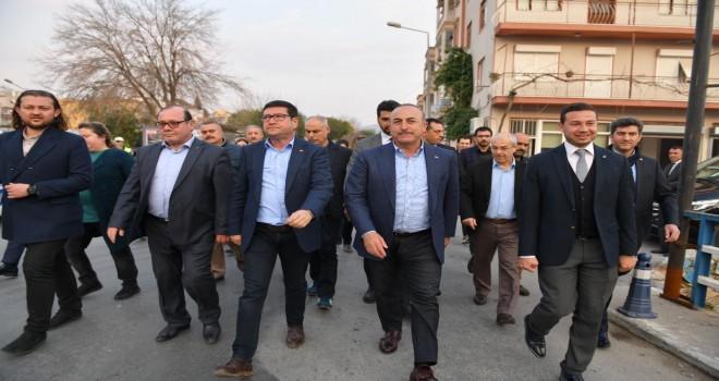 Bakan Çavuşoğlu'dan Milas ziyareti