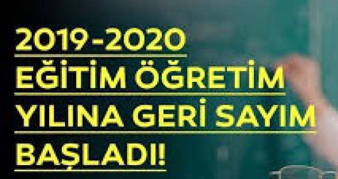 2019-2020 EĞİTİM-ÖĞRETİM YILI BU HAFTA BAŞLIYOR