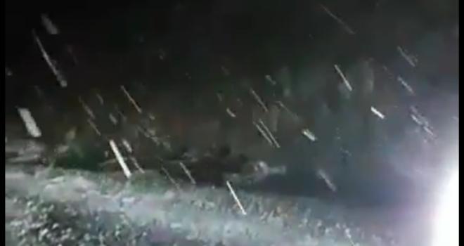 Milas'ın yüksek kesimlerinde kar yağışı