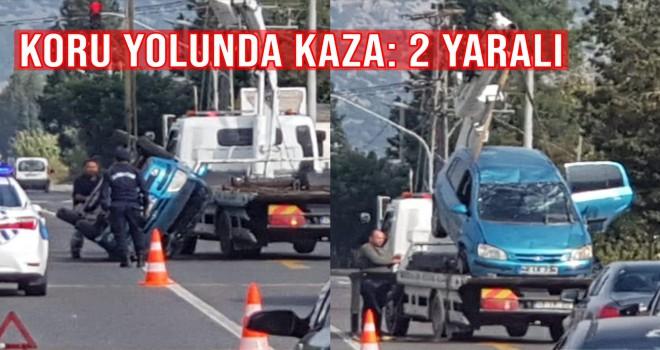 Koru yolunda kaza: 2 yaralı