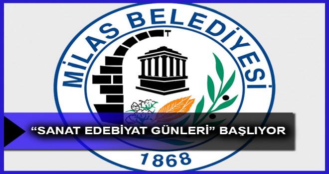 """""""SANAT EDEBİYAT GÜNLERİ"""" BAŞLIYOR"""