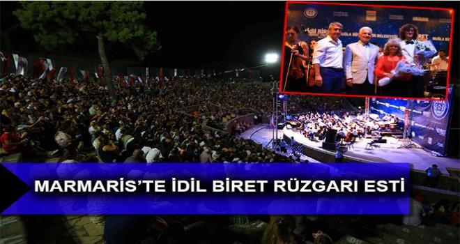 MARMARİS'TE İDİL BİRET RÜZGARI ESTİ