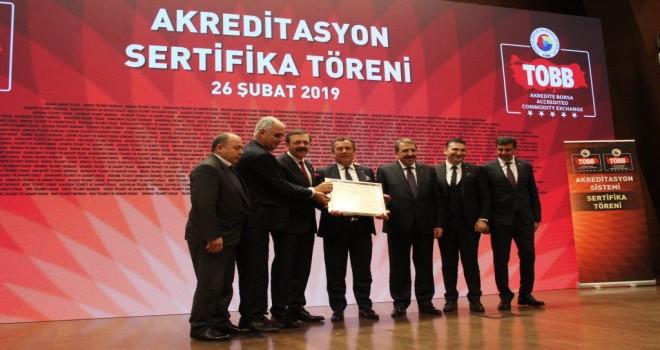 MİTSO akreditasyon belgesini aldı
