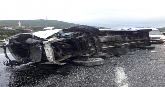 Feci kazada 9 işçi yaralandı