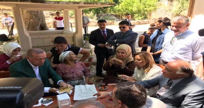 Cumhurbaşkanı Erdoğan Stratonikeia'yı ziyaret etti